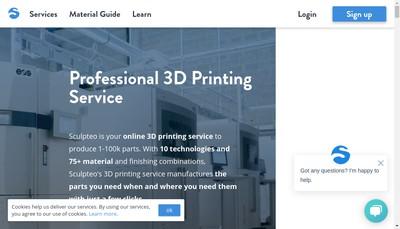 Site internet de Sculpteo SAS