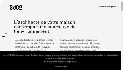 Site internet de Serge Di Giusto • Architecte DPLG