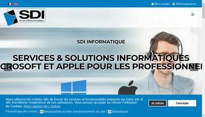 Site internet de Service Diffusion Informatique