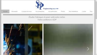 Site internet de Sdp Engineering