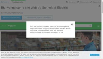 Site internet de Schneider Electric It France
