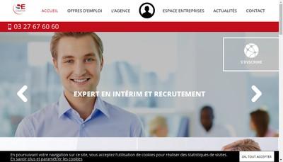 Site internet de Sambre Emplois Services