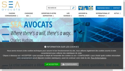 Site internet de Sea Avocats