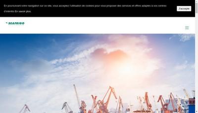 Site internet de Seafrigo - Sd'Log