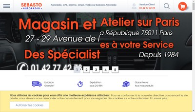 Site internet de Auto Radio Tel