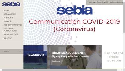 Site internet de Sebia