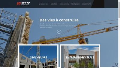 Site internet de Sebtp-Construction