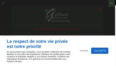 Site internet de Gaillard Pere Fils - Carrieres Gresy
