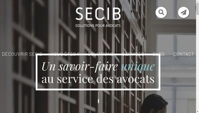 Site internet de Secib