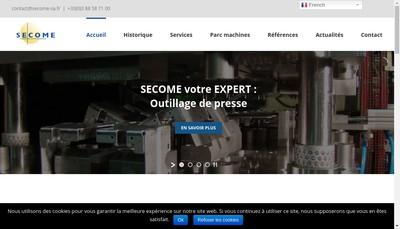 Site internet de Societe Etudes et Constructions Mecaniques