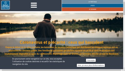 Site internet de Secours Catholique