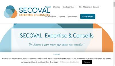 Site internet de Secoval Expertise et Conseils