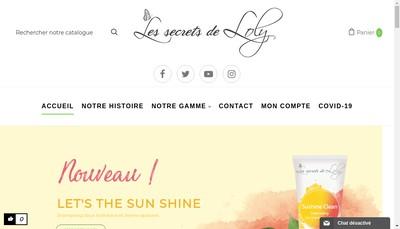 Site internet de Secrets de Loly