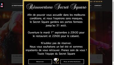 Site internet de Secret Square