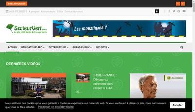 Site internet de Secteur Vert Media