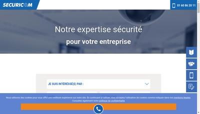 Site internet de Securicom