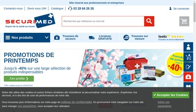 Site internet de Securimed