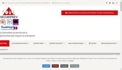 Site internet de Securiprev EURL