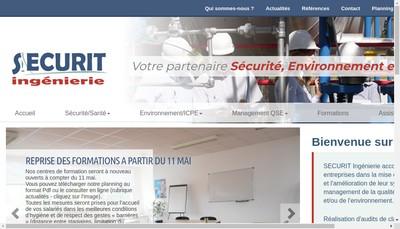 Site internet de SECURIT Ingenierie