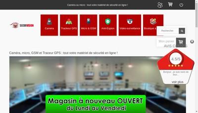 Site internet de Securvision