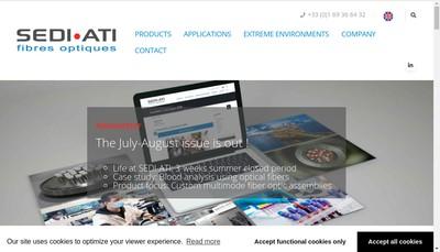 Site internet de Sedi-Ati Fibres Optiques