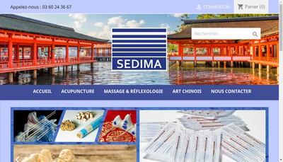 Site internet de Sedima-France