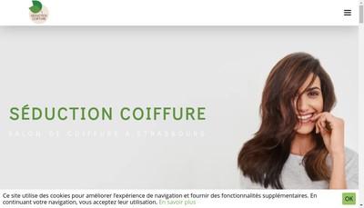 Site internet de Seduction Coiffure