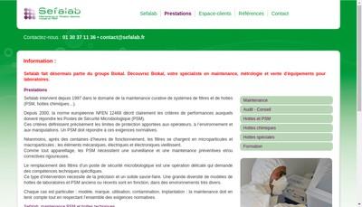Site internet de Sefalab
