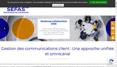 Site internet de Sefas Innovation