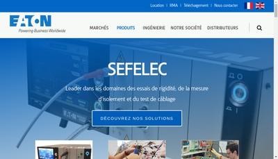 Site internet de Sefelec