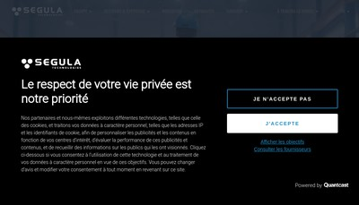 Site internet de Segula Engineering France