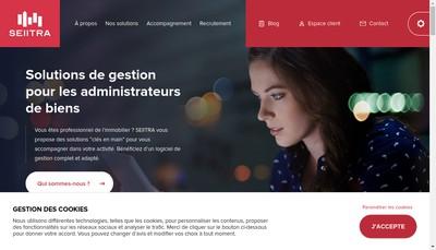 Site internet de Seiitra Reseau