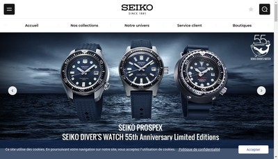 Site internet de Seiko