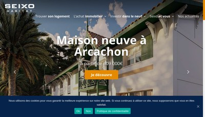 Site internet de Seixo Promotion Toulouse