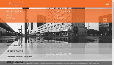 Site internet de Seize Immobilier