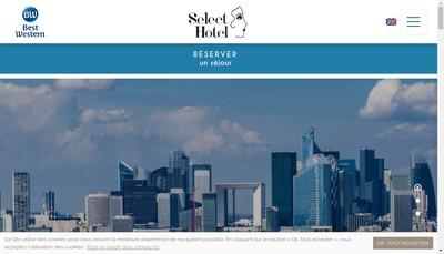 Site internet de Select Hotel