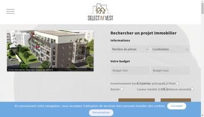 Site internet de Select Imvest