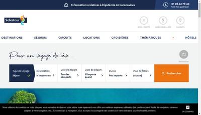 Site internet de Selectour Voyages Rayssac