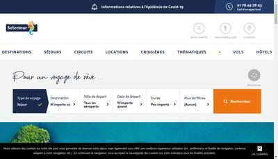 Site internet de Apodis Voyages
