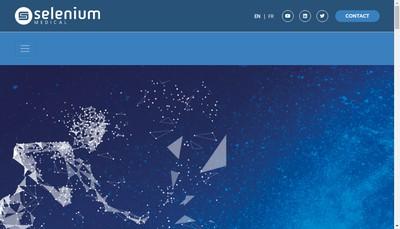 Site internet de Selenium Medical