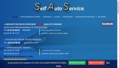 Site internet de Self Auto Service