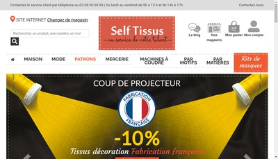 Site internet de Self Tissus