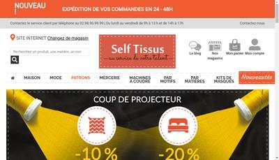 Site internet de Self Tissus