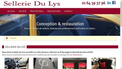 Site internet de Sellerie du Lys