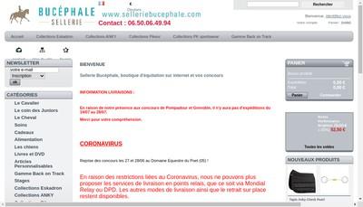 Site internet de Sellerie Bucephale