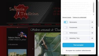 Site internet de Sellerie et Tradition