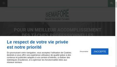 Site internet de Semafore