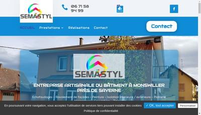 Site internet de Semastyl Batiment