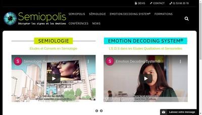 Site internet de Semiopolis