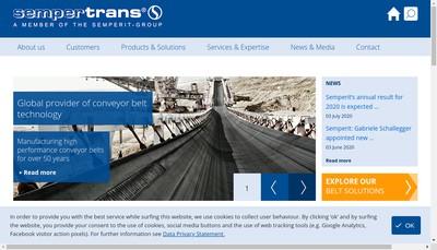 Site internet de Sempertrans Maintenace France Nord